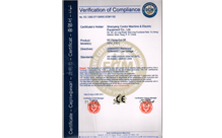 CE Verification of Compliance